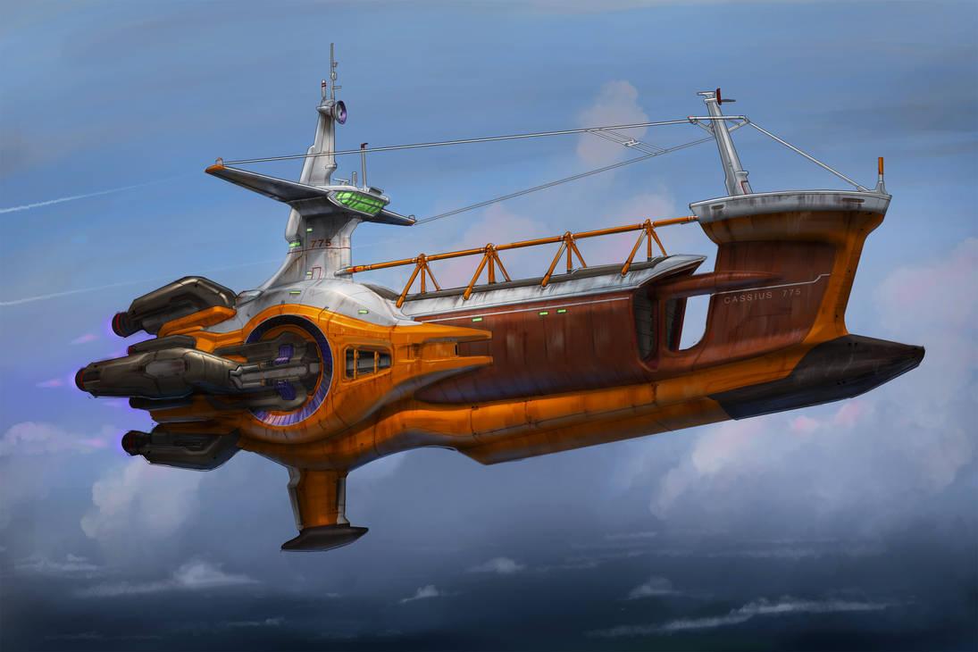 Cassius 775 - Cargo Ship by MeckanicalMind