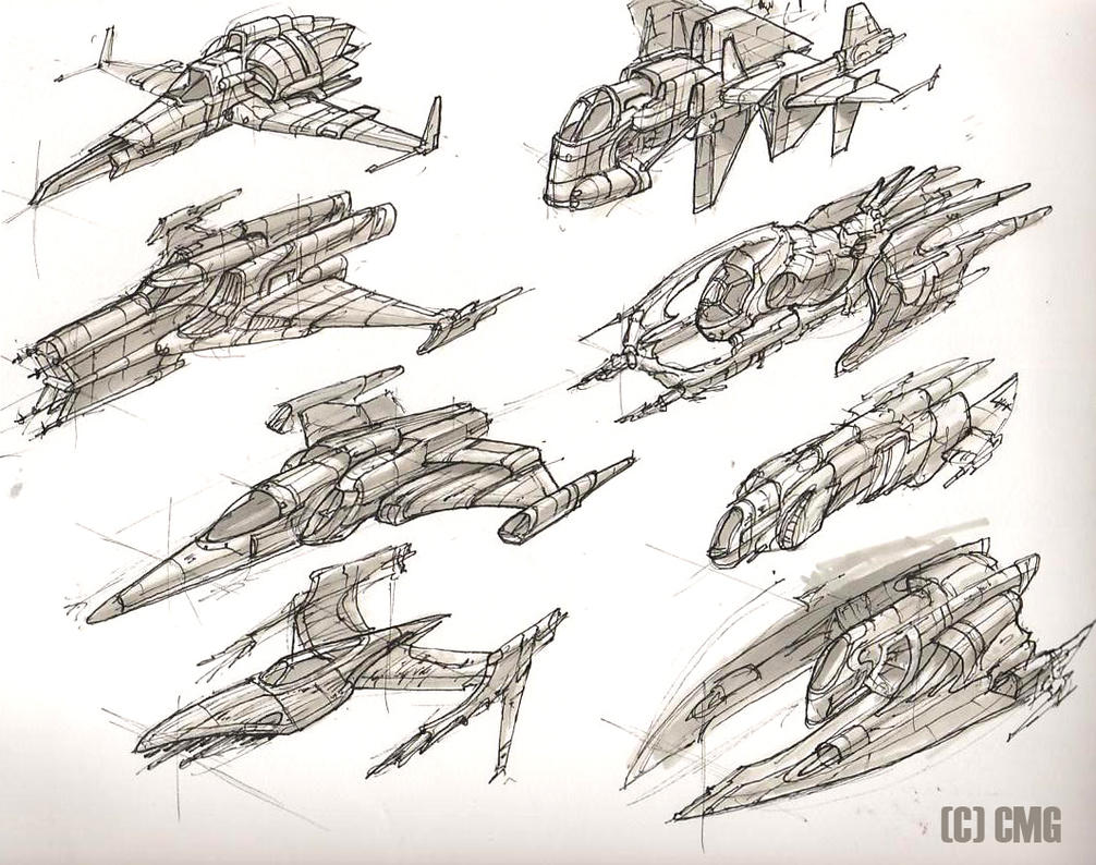 Space Ships 7 by MeckanicalMind
