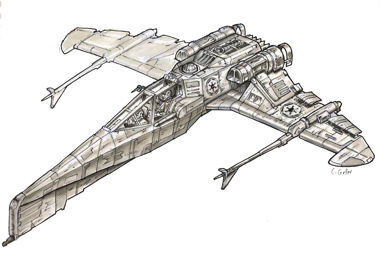 Star Wars Hybrid 1 -render- by MeckanicalMind
