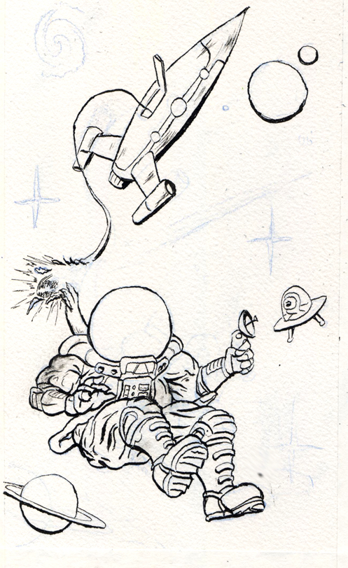 Lost in Space Linework by MeckanicalMind