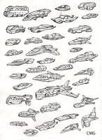 37 Flying Cars by MeckanicalMind