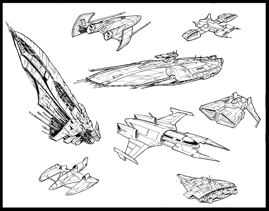 8 Ships by MeckanicalMind