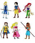 Disney Princess Warrior Line-up