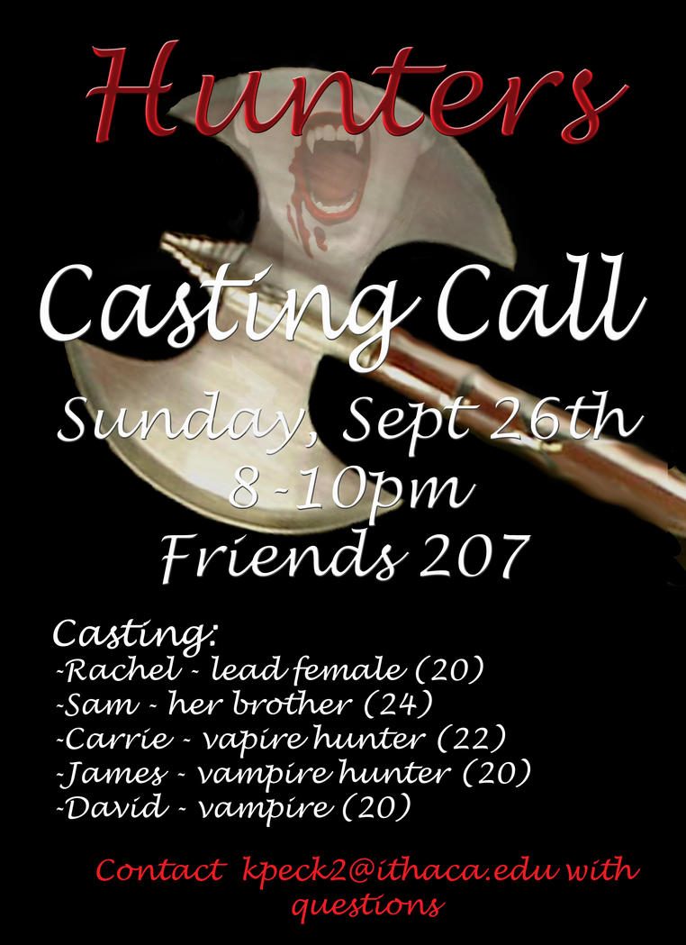Hunters Casting Call Poster By Raven Nightengale