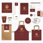 Coffee Brand Identity Vector Templates