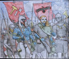 The Great Heathen Army by skjaldulfr