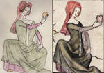 Medieval Lady Reimagined as Busty