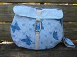 Blue Butterfly Messenger Bag