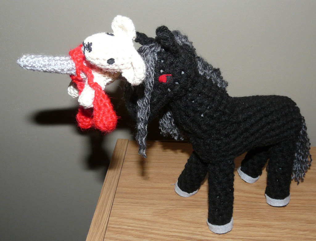 Morbid EVIL Unicorn Plush by Eliea