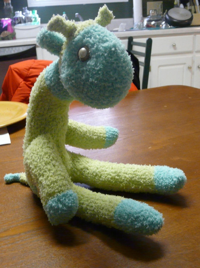 Sock Giraffe For Hilary by Eliea