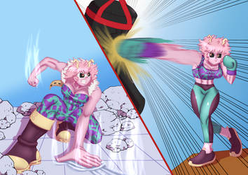 Comission Art w/ Mastersaruwatari -- Hero Mina by Ryujisama