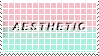 aesthetic stamp