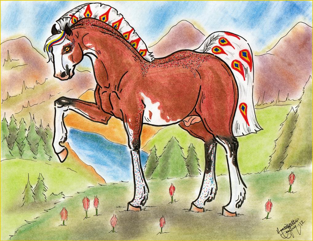 CoaH Stallion: Sanguinum Argentum by BlackGlassButterfly