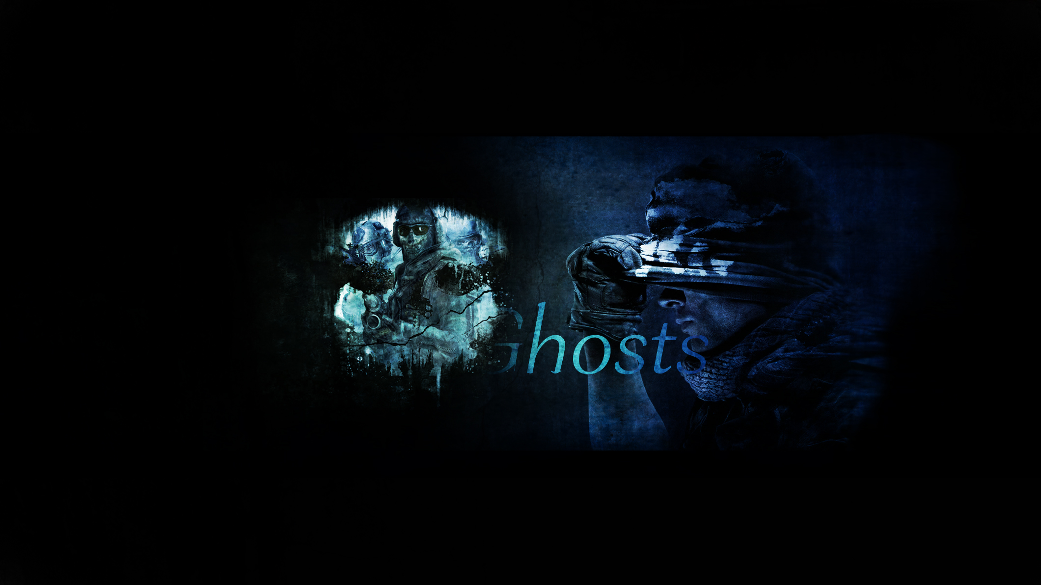 call of duty ghosts youtube channel art by thepoweroffive