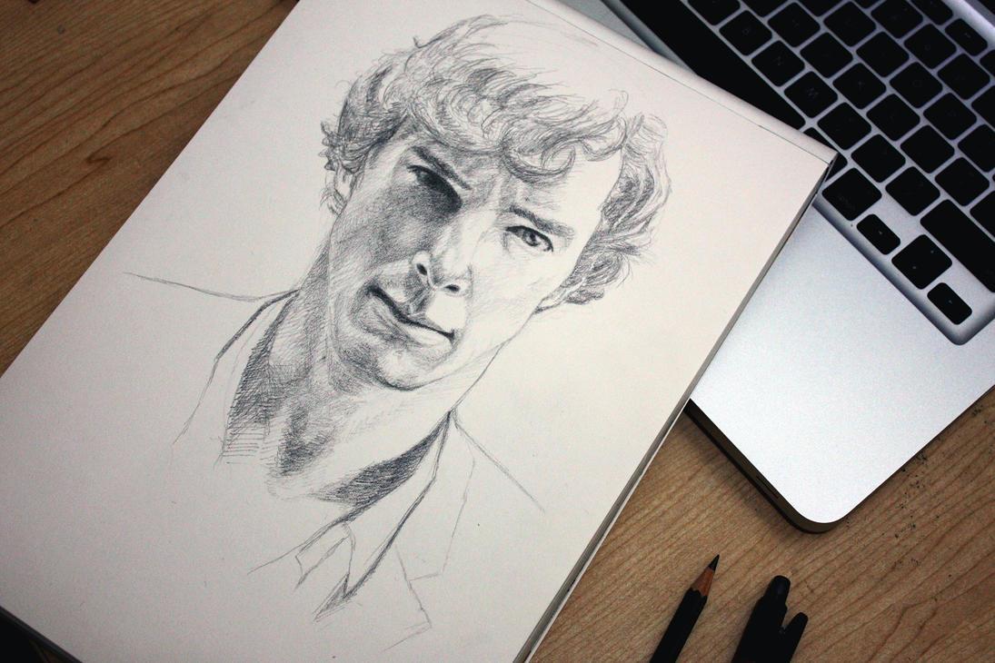 Sherlock Black And White Drawing Bbc sherlock 02 by gunneosBbc Sherlock Drawing