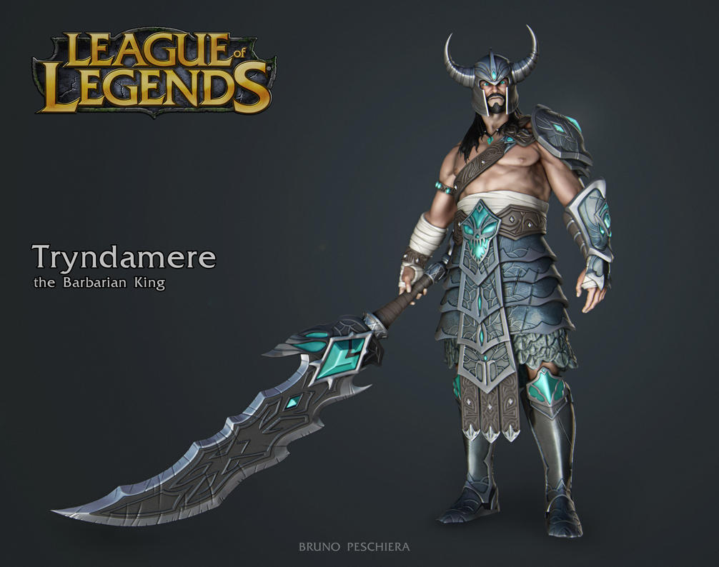 Tryndamere the Barbarian King - Small by Peschiera