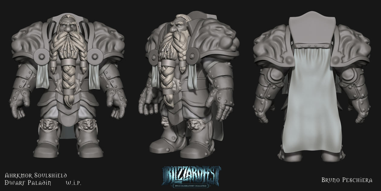 Blizzfest wip4 - armor blockout by Peschiera