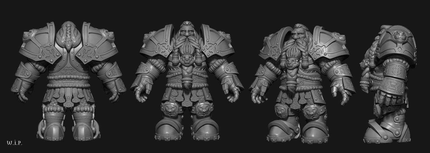 Blizzfest wip5 - armor clean up by Peschiera