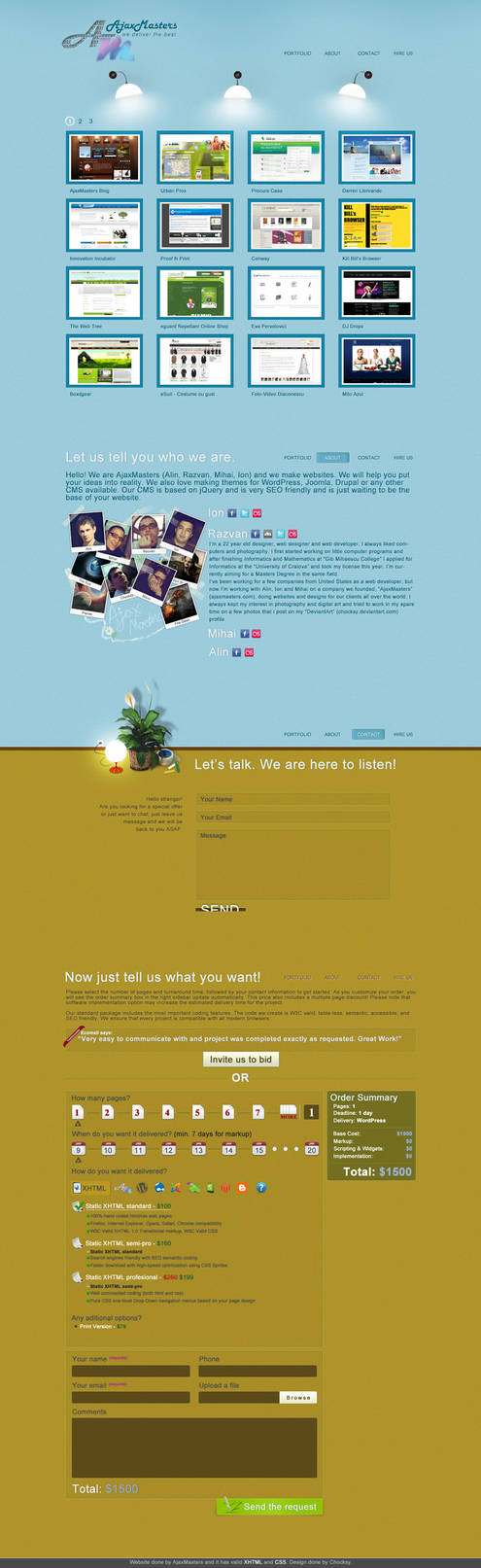 AjaxMasters Website Design