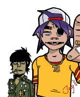 Murdoc and 2D by Jacyll