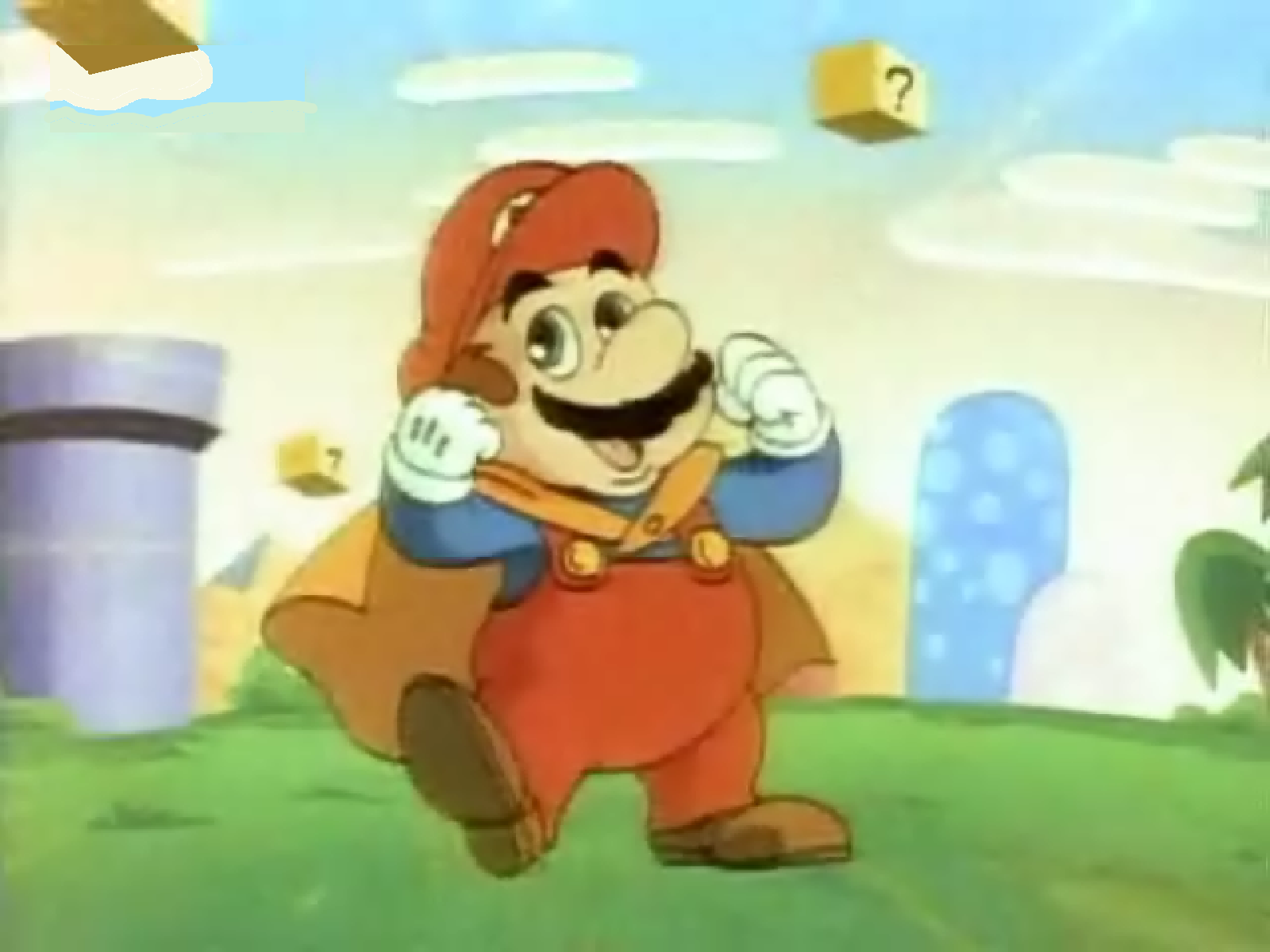 Cape Mario In The Super Mario World Intro by PuccadomiNyo