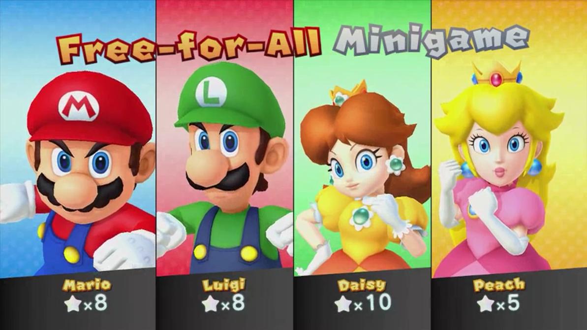 Mario,Luigi,Peach And Daisy Close Up by ...