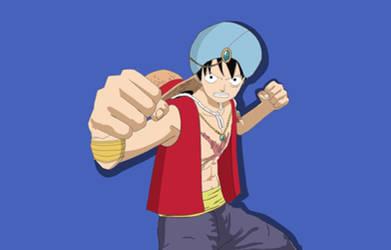Genie Luffy (Fighting Pose) by PrincessPuccadomiNyo