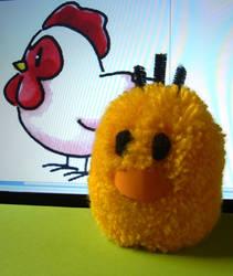 Harvest Moon Pompom Chick by chibichanalex