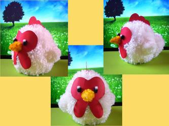 Harvest Moon Pompom Chicken by chibichanalex