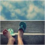 wish i can walk along the sky