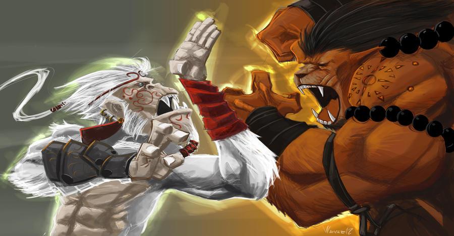 monkey vs lion by minenanoah on DeviantArt