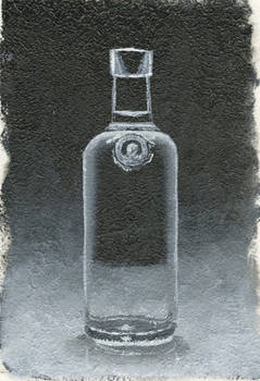 glass bottle from photo reference