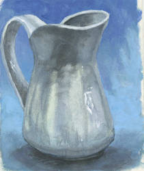 ceramic pitcher from photo reference
