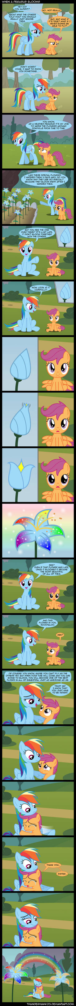 When a Pegasus Blooms by Thunderhawk03