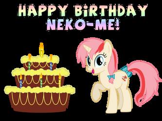 Happy Birthday Neko-me! by Thunderhawk03