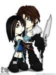 Chibi Squall and Rinoa