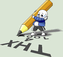 Sans say ''thank you'' by Fluffy-Pixel-Artist