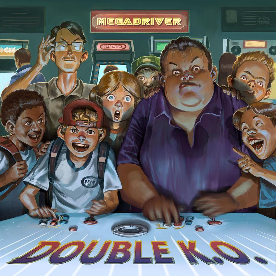 Double K.O - Megadriver Album Cover by d-torres