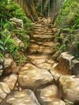 Stair of rock