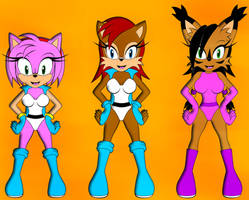 C: Sally Team - Sally, Amy, Nicole by DarkSonic250