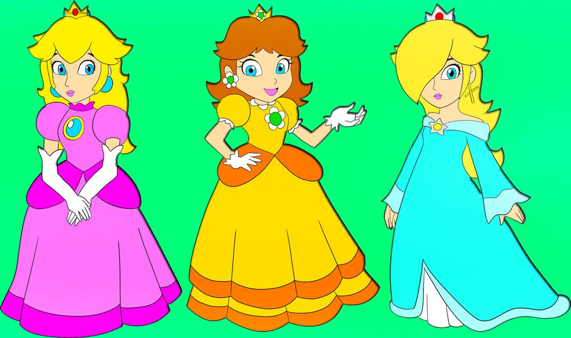 Improbable! Princess peach daisy rosalina and zelda