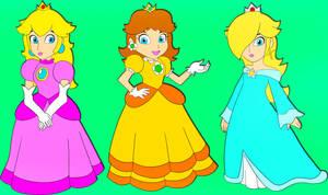 C: Princess Peach, Daisy, Rosalina by DarkSonic250
