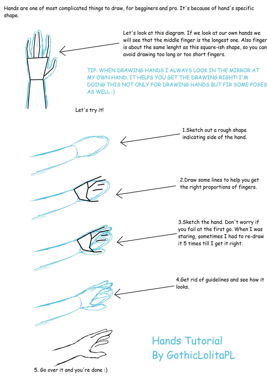 Tutorial #3 [Hands] by GothicLolitaPL