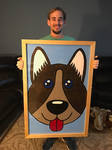 me and my finished framed painting by ScottToms