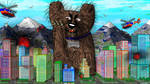 Scary Giant Dog Terrorizing City by ScottToms