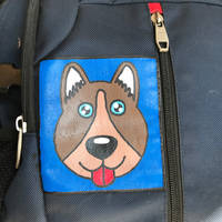 dog painting on my backpack.