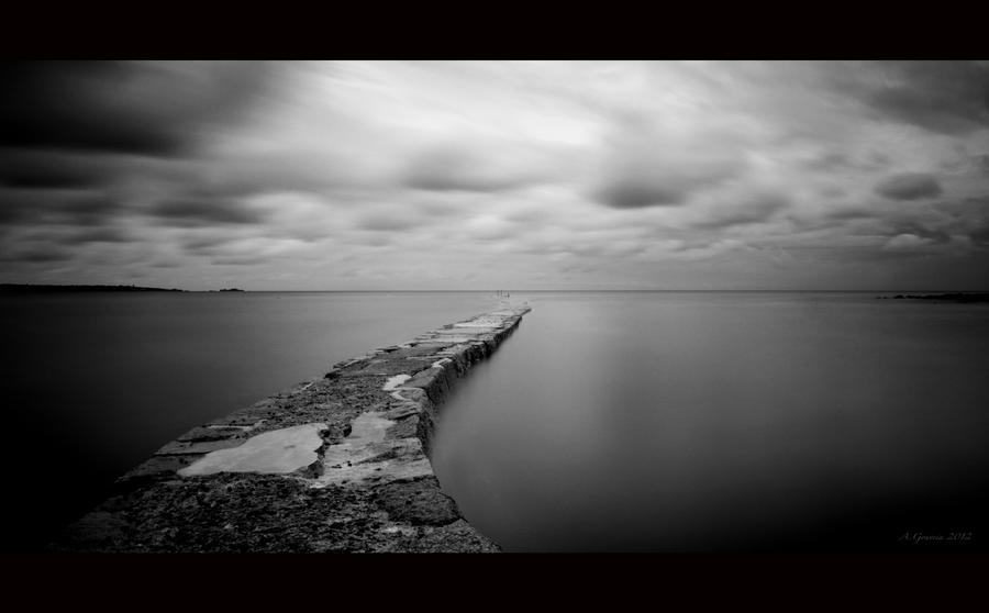 To The End Of The Jetty by AntonioGouveia
