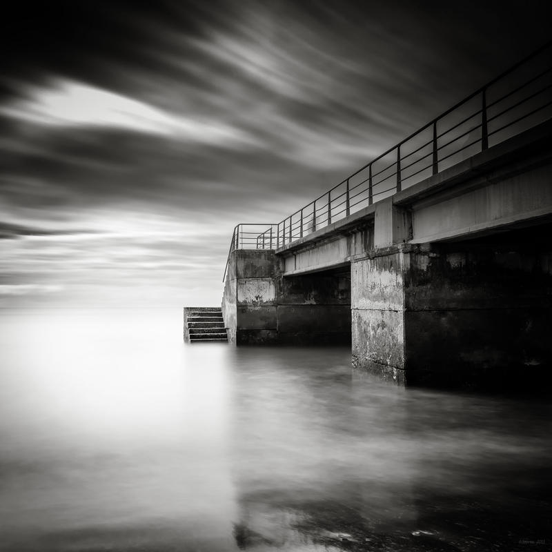 Darkened Pier by AntonioGouveia