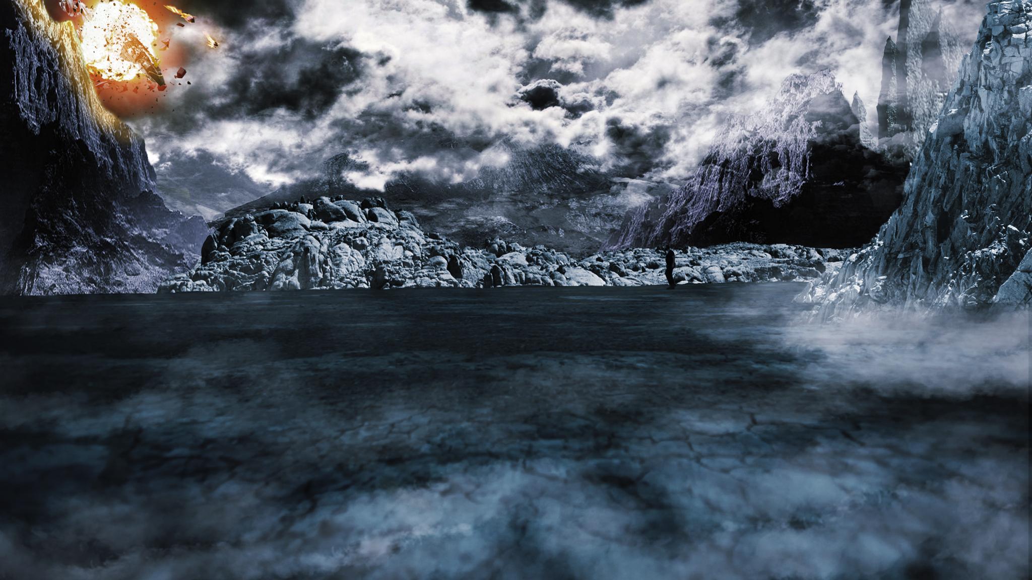 alien landscapes wallpaper - HD2048×1152