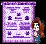 Pandajenn Commission Menu By Kiss The Iconist-dcmo by Panda-Jenn